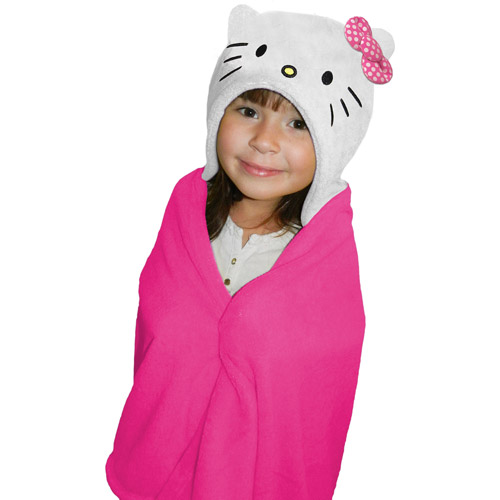 "Hello Kitty Hold Me Hooded Character 40"" x 50"" Throw"
