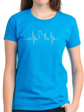 24eba55375 Product Image CafePress - Cat Heartbeat - Women's Dark T-Shirt