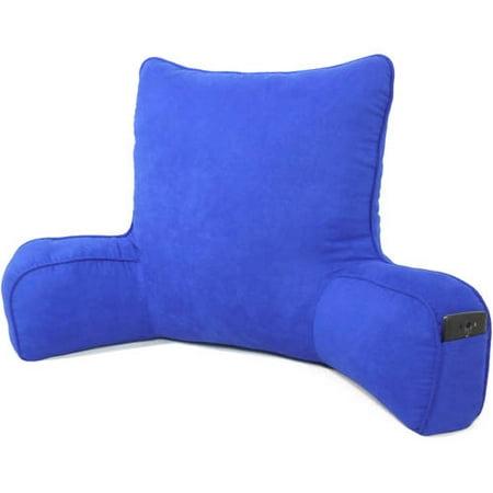 Oversized Faux Suede Backrest, Blue
