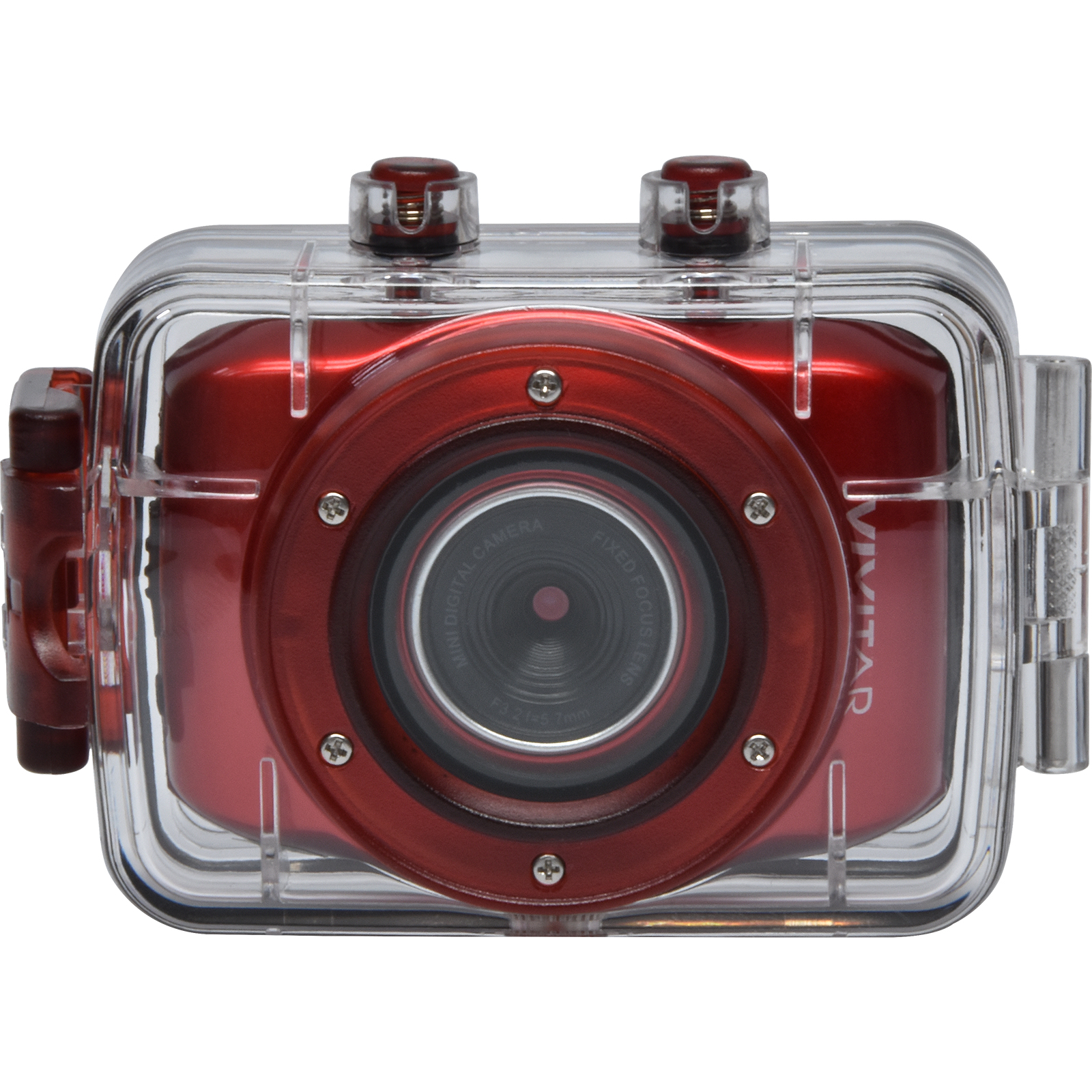 Vivitar 5.1MP ACTION CAMCORDER 720P Red