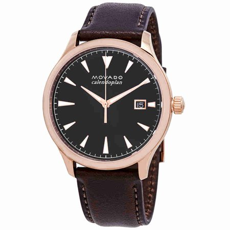 Heritage Black Dial Chocolate Brown Leather Mens Watch (Chocolate Brown Dial)