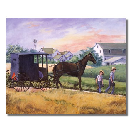 Amish Man Horse Buggy Windmill Wall Picture Art Print](Amish Man)