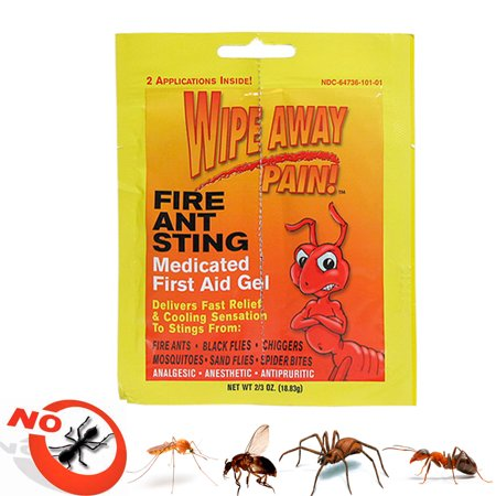 Fire Ant Medicated Gel Wipe Away Pain Camping Ointment Bug Insect Bite First (Best Ointment For Insect Bites)