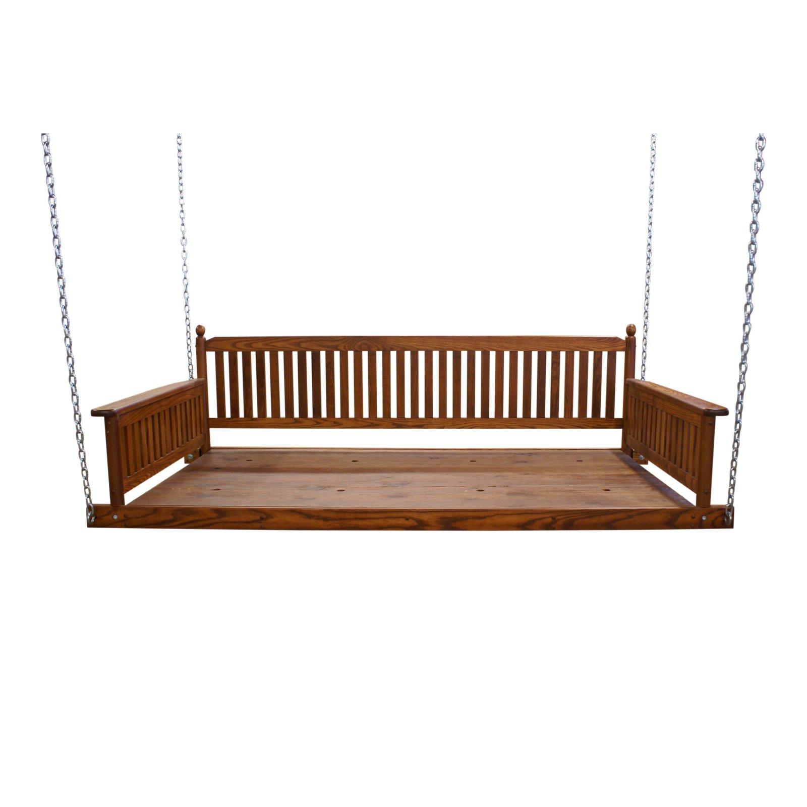 Hinkle Bradley 256 Wood Patio Day Bed Swing