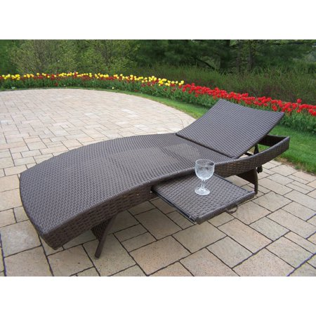 Oakland Living Elite All-Weather Wicker Chaise Lounge