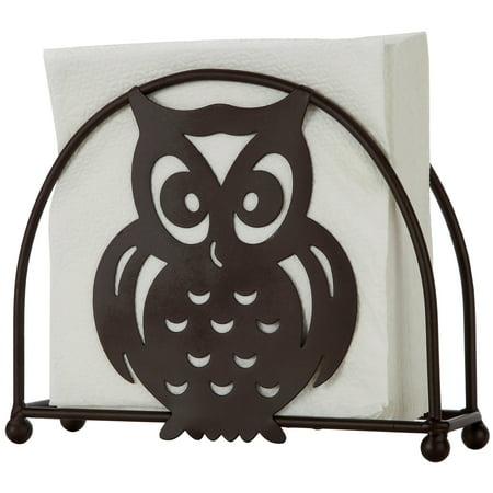 Home Basics Bronze Owl Design Napkin Holder Storage 6