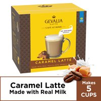Gevalia Café at Home Instant Caramel Latte Coffee Kit, 5 Count