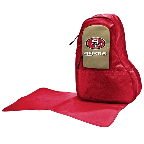 NFL Diaper Bag by Lil Fan, Sling Style - San Francisco 49ers