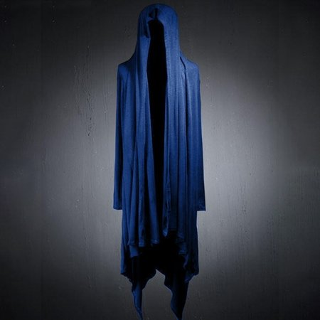 Men Gothic Stylish Long Coat Outwear Asymmetric Hooded Cloak