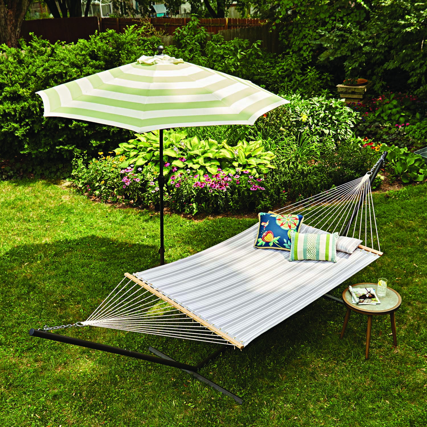 Better Homes & Gardens 15-Foot Two Person Quilted Hammock � Herringbone Stripe by Better Homes & Gardens