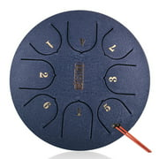 6in Metal Tongue Drum Mini 8-Tone Hand Pan Drums with Drumsticks Percussion Musical Instruments