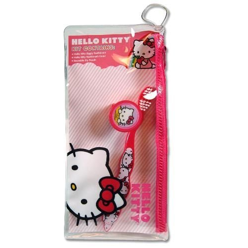 Hello Kitty Toothbrush in PVC Pouch by