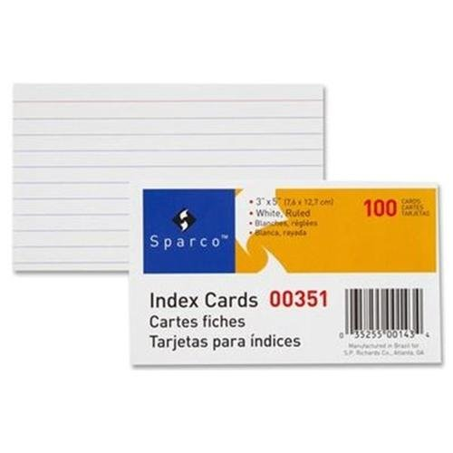 Sparco Ruled Index Card 00351