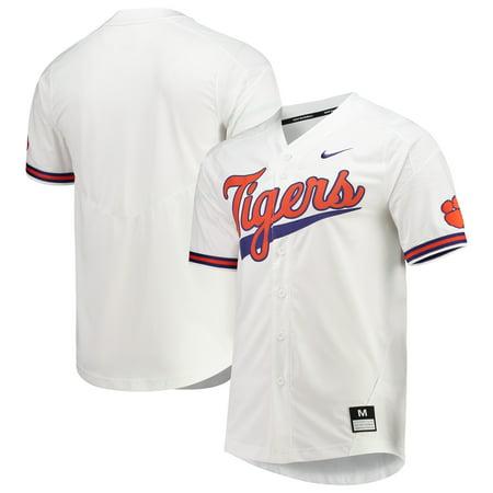 Clemson Tigers Nike Vapor Untouchable Elite Full-Button Replica Baseball Jersey -