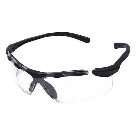 Scratch-Resistant Condor Clear Safety Glasses Wraparound