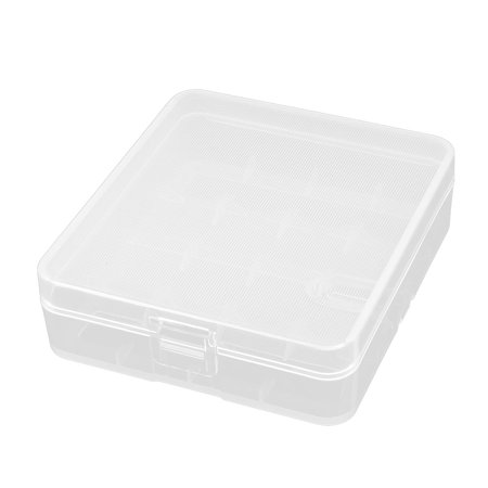 Clear White Plastic Storage Battery Box Case for 4 x 18650