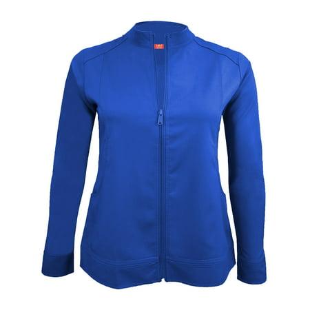 Warm Up Uniforms - NATURAL UNIFORMS Women's Ultra Soft Front Zip Warm-Up Scrub Jacket 5200 (True Royal Blue, X-Small)