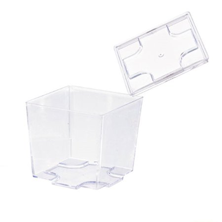 Clear Cubic Mini Dish Lid/Case of 576