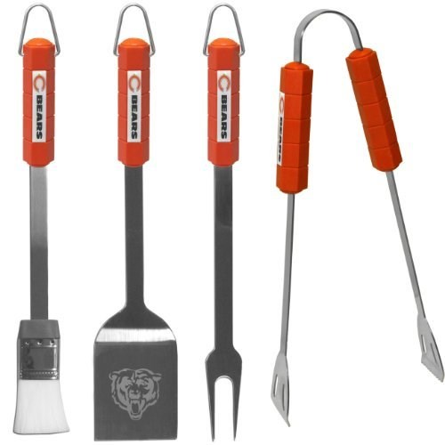 Chicago Bears Official NFL 4 pc BBQ Set by Siskiyou 291623