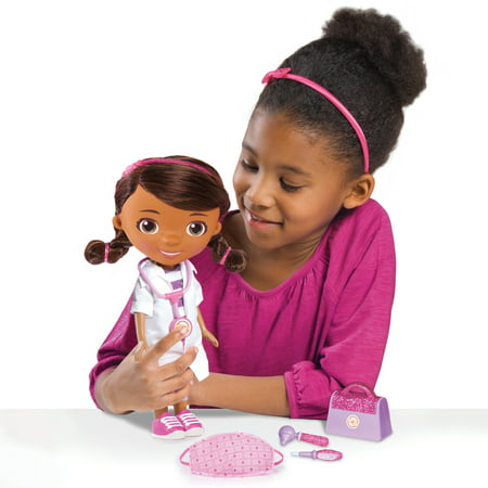 Disney Junior Doc McStuffins Wash Your Hands Singing Doll, With Mask & Accessories, Ages 3 +