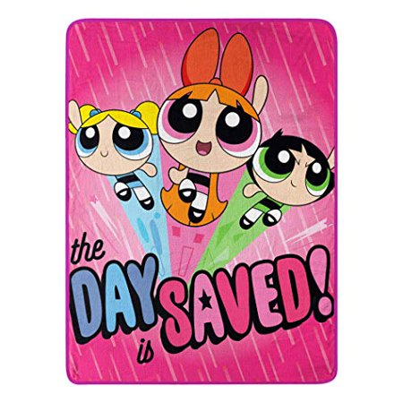 "Micro Raschel Throws - Power Puff Girls - Day Saved 45x60"" New Blanket - image 1 of 1"