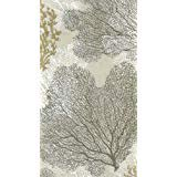 Entertaining with Caspari Sea Fans Paper Guest Towels Taupe Pack of 15