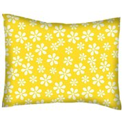 Sheetworld Primary Floral Woven Cotton Percale Pillow Cover