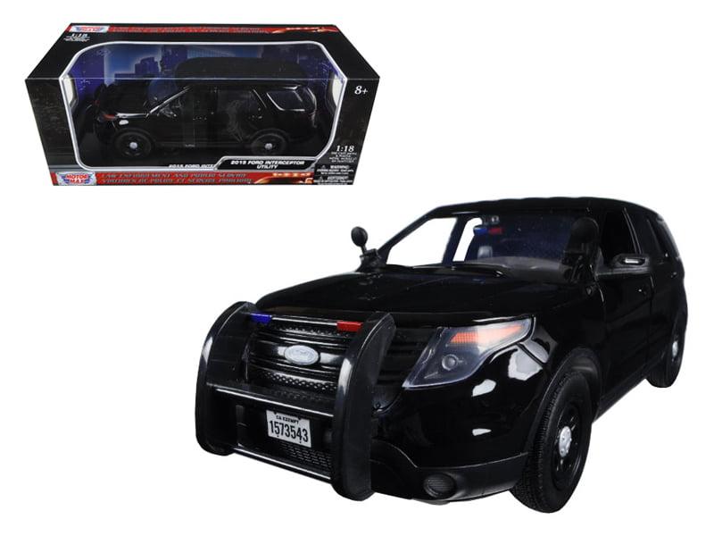 2015 Ford PI Utility Interceptor Special Service Black Police Car 1 18 Diecast Model Car... by Motormax