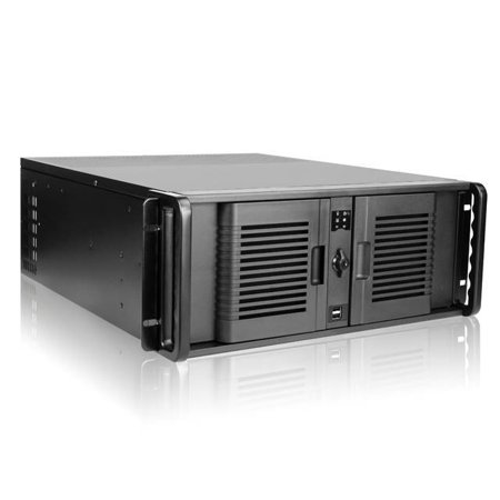 iStarUSA D Storm D-400-P No Power Supply 4U Compact Stylish Rackmount Server Chassis (Black) - image 1 of 1