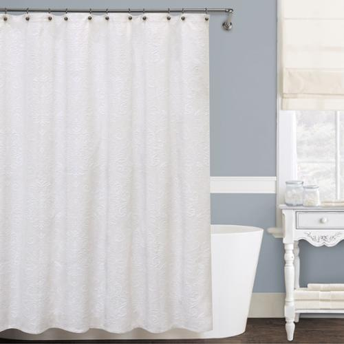 Lamont Home Isabella Shower Curtain  5 Sizes Available XL Wide: 144 inches wide x 72 inches