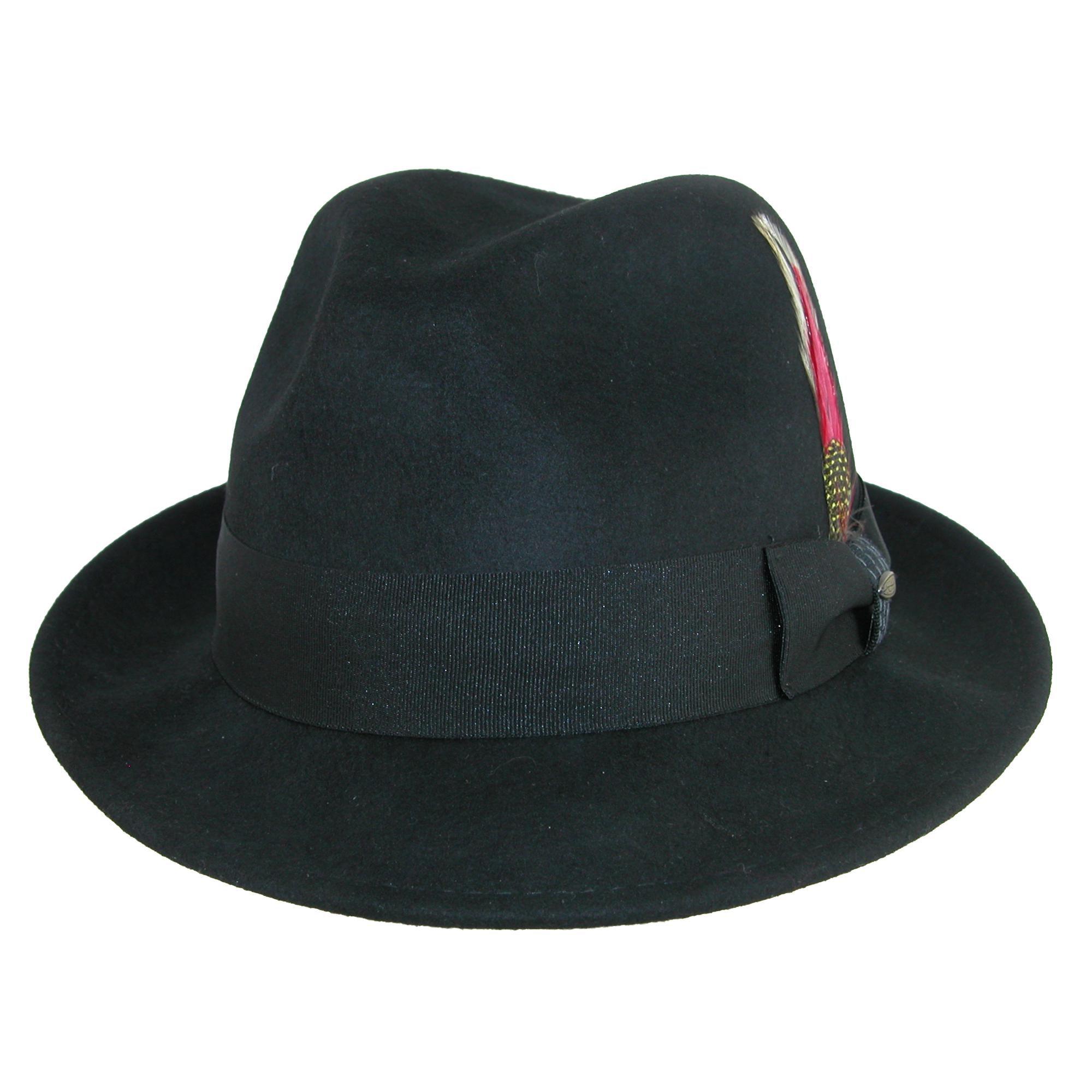 Scala Classico Men s Water Repellent Snap Brim Fedora Hat 19b8c0a18d1e