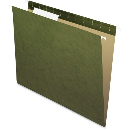 Pendaflex, PFX81601, Essentials Std Green Hanging Folders, 25 / Box, Standard Green