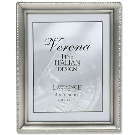 Pewter Entrance (Antique Pewter 4x5 Picture Frame - Bead Border Design)