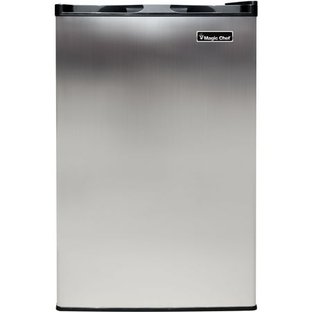 Magic Chef 3 Cu. Ft. Upright Freezer with Stainless Steel Door - Freestanding Top Freezer Freezer