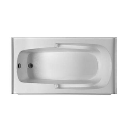 6032 Bathtub (Reliance Baths R6032ISS-W-LH Integral Skirted 60 x 32 in. Soaking Bathtub With End Drain, Biscuit Finish)