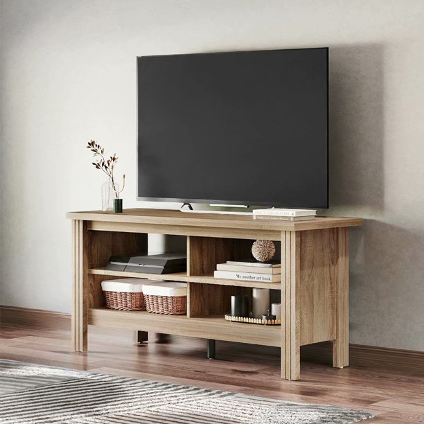 Farmhouse TV Stands for 55 inch TV Media Storage Shelve