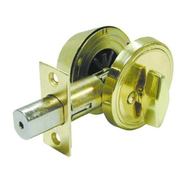 Ultra Hardware 802536052 83605 K3 Polished Brass Standard Duty Single Cylinder Deadbolt - image 1 of 1