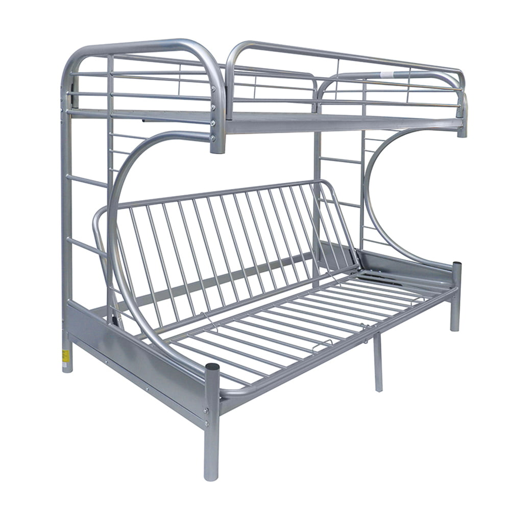 Eclipse Twin Over Futon Metal Bunk Bed, Multiple Colors by Acme