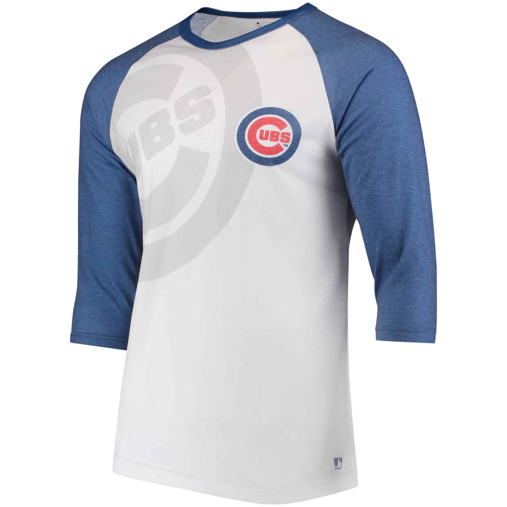 Chicago Cubs Baseball 3/4-Sleeve Raglan T-Shirt - White/Royal