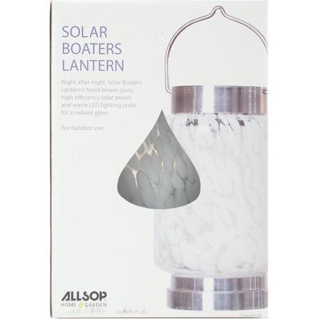 UPC 035286306744 product image for Solar Boaters Lantern, White Cylinder | upcitemdb.com