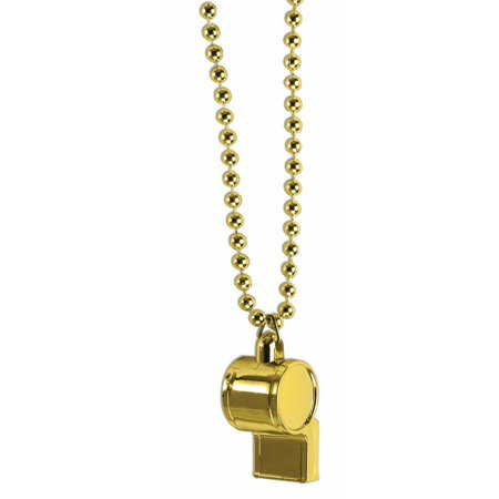 Gold Whistle Halloween Costume Accessory