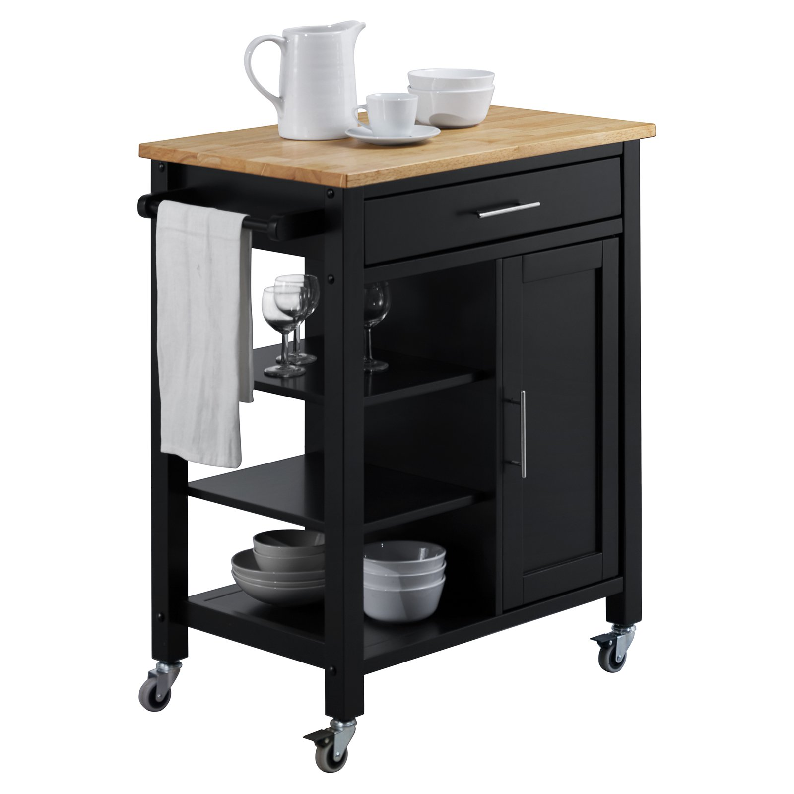 EDMONTON KITCHEN CART - BLACK