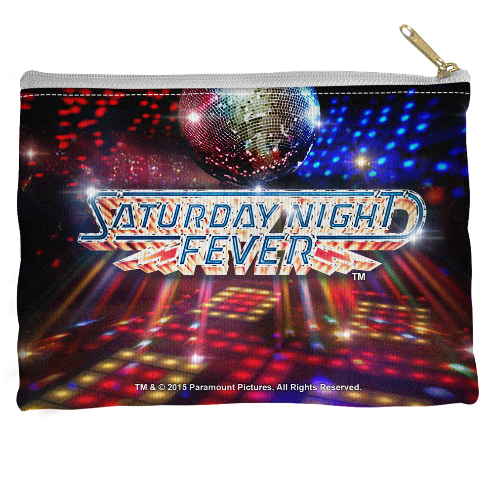 Saturday Night Fever Dance Floor Accessory Pouch White 8.5X6