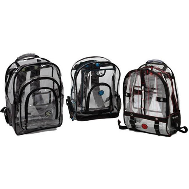 Bulk Buys Deluxe Multi-Pocket Clear Backpack - Case of 24