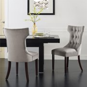 Dorel Living Clairborne Dining Chair, Set of 2, Taupe