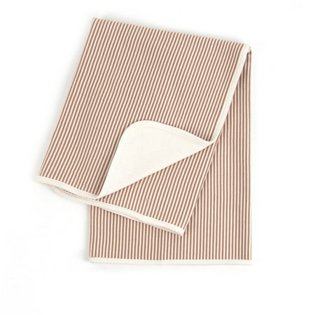 Tadpoles Organic Cotton Knit Pinstripe Double Layer Receiving Blanket