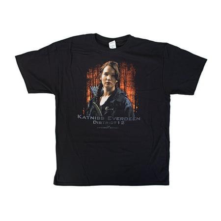 The Hunger Games Katniss Everdeen D12 Men's T-Shirt   L (Katniss Everdeen Mockingjay Outfit)