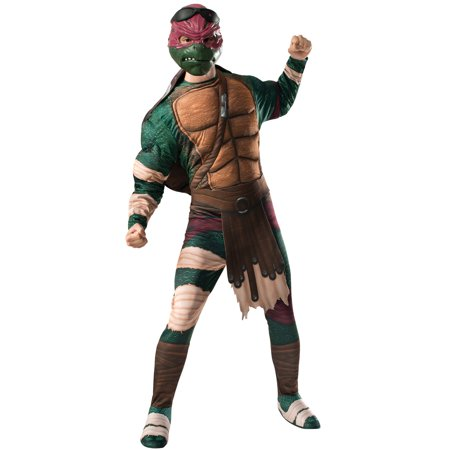 Deluxe Teenage Mutant Ninja Turtle Costume (TMNT 2 Deluxe Raphael Adult)