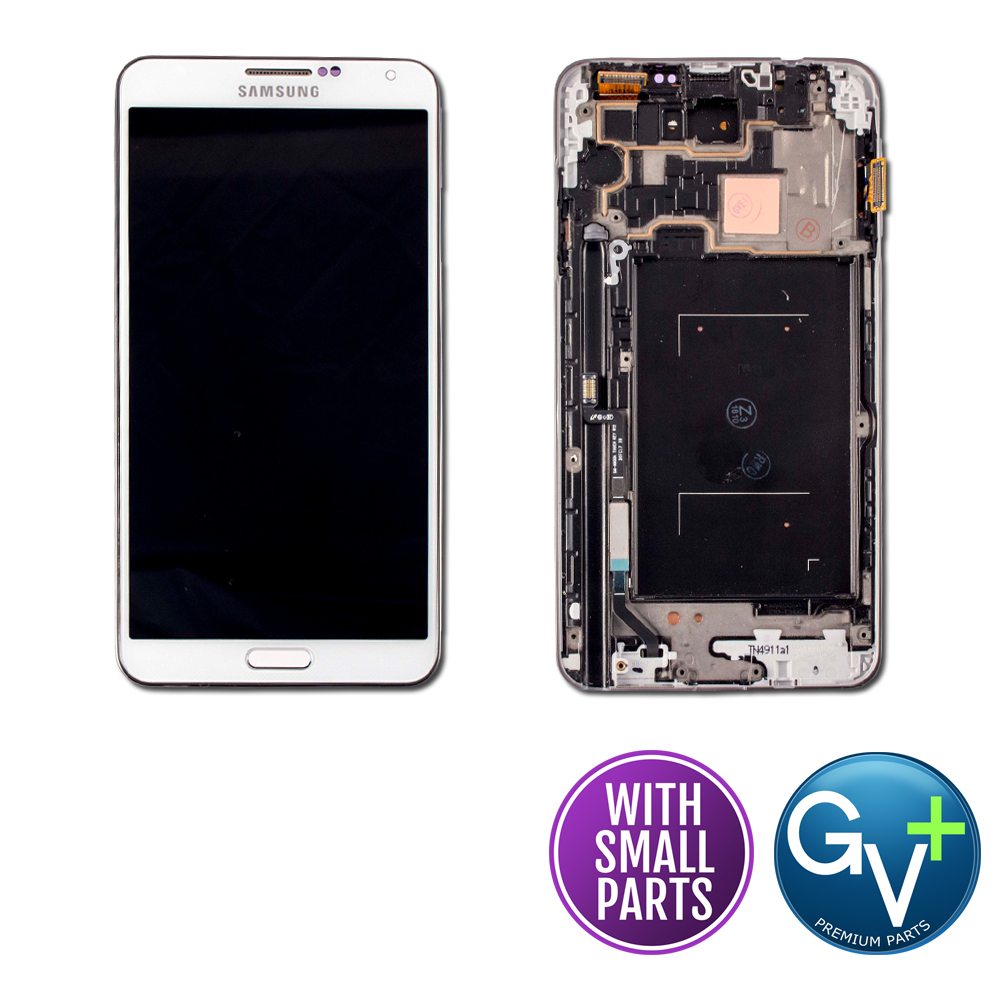 OEM Touch Screen Digitizer and AMOLED with Frame for Samsung Galaxy Note 3 - White (SM-N900A)