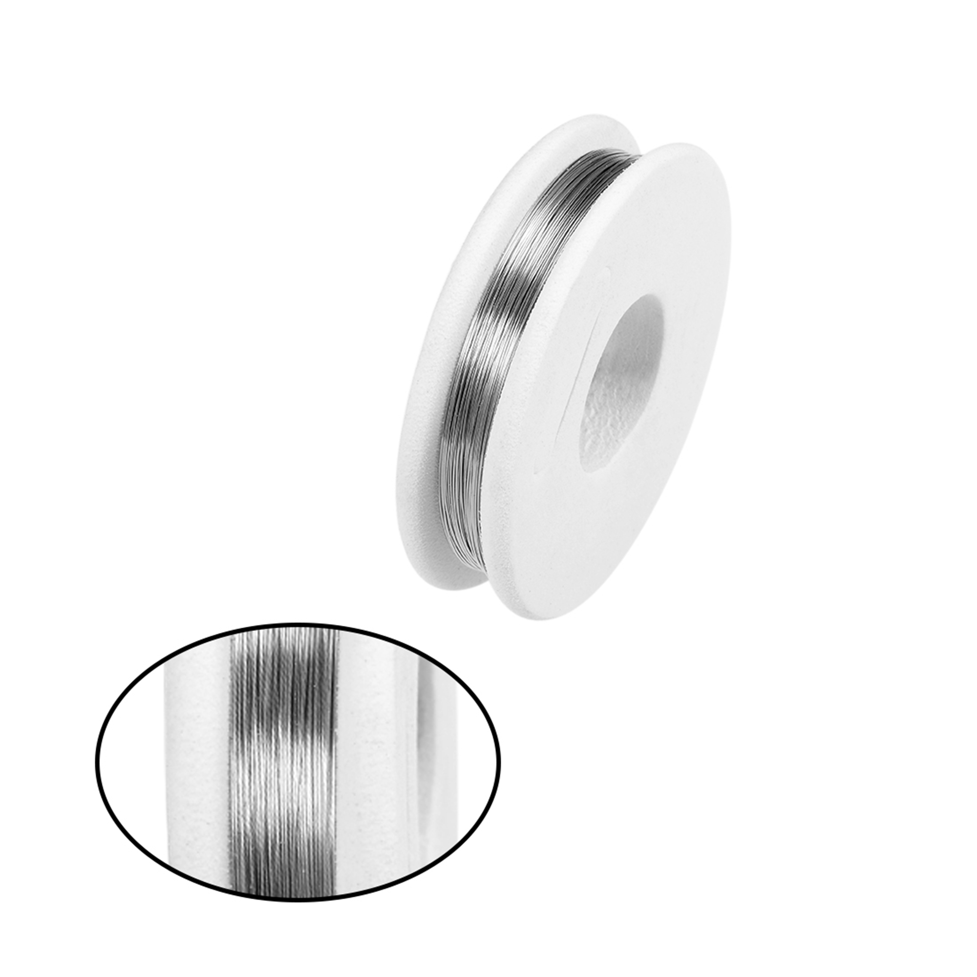 0.15mm 35AWG Heating Resistor Wire Nichrome Resistance Wires for Heating Elements 65.6ft - image 2 de 4
